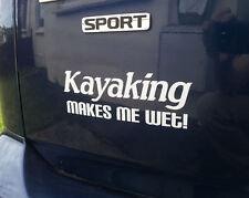 Kayak me hace húmedo! Divertido Euro/Jdm Calidad Pegatina de vinilo/etiqueta 16 Colores
