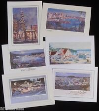 6 Seattle San Juan Island Fine Art Blank Greeting Note Cards by Marshall Johnson