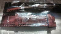 Juvenia 18/16 mm Brown Crocodile Strap / Band. Mint. New. Authentic