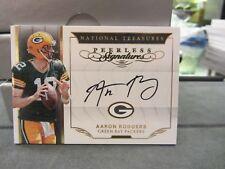 National Treasures Peerless On Card Autograph Packers Aaron Rodgers 2/5  2016