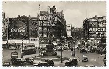 1940 RPPC Postcard London Giant Coca Cola Wrigley Signs