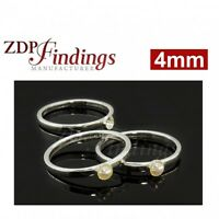 1pc x 18mm Round Mount High Quality Ring Base Bezel pad Blanks Gold Filled DIY