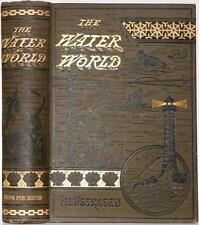 1886 THE WATER WORLD ESSEX WHALE HUNTING MOBY DICK SEA MONSTERS ILLUSTRATED VG+