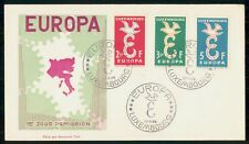 LUXEMBOURG FDC 1958 COVER EUROPA CEPT COMBO kkm77011