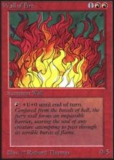 MTG magic cards 1x x1 Light Play, English Wall of Fire Unlimited