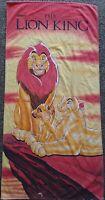 Lion King Beach Towel Simba Musafa Sarabi All Cotton Vintage 90s Franco 26x54