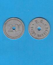 Bretagne Nécessité Saint-Nazaire 20 centimes en Alu P.G Prisonniers de guerre N1