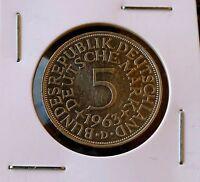 5 Mark 1963 D, Germany, Deutschland, Allemagne, Silber silver coin, 5 DEM 1963 D
