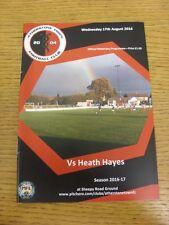 17/08/2016 Atherstone Town v Heath Hayes  . Footy Progs (aka bobfrankandelvis) a