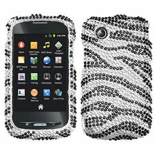 For ZTE Merit Z990g 990g Crystal Diamond BLING Hard Case Phone Cover Zebra