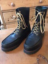 Ralph Lauren Men's Oiled Calf Black Leather Boots.Size 12D.(uk 11)
