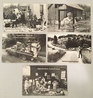 Vintage Lot Of 5 Appalachian Funny/ Humor Post Cards