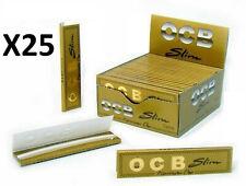 OCB SLIM GOLD ORO 25 carnets  de feuilles Longue à rouler NEUF - LETTRE SUIVIE