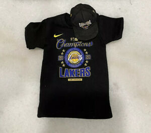 1/6 NBA Lakers Lebron James 2020 Championship Hat and T-shirt for ENTERBAY