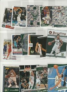 GIANNIS ANTETOKOUNMPO LOT (15) DIFFERENT W/ JOUSTING INSERT HOLOFOIL STICKERS