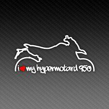 Ducati Hypermotard 950 Love Silhouette Motorrad Classic Superbike Sticker 15x9cm