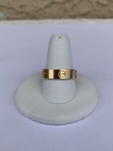 Cartier 18K Yellow Gold 5.5mm Love Ring Band (Size 8.75)