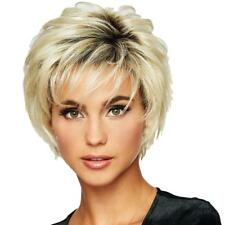 Gradient Short Wig Fringe Fluffy Human Hair Wig Natural Daily Party Fashion