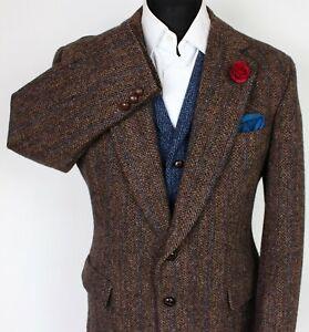 Harris Tweed Blazer Jacket Brown 42S SUPERB RARE COLOURS X232