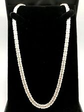 """925 Sterling Silver Solid Byzantine Necklace 22"""" 6mm"""