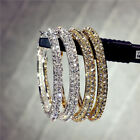 Fashion Jewelry 925 Silver,Gold Hoop Earrings Cubic Zirconia Women Gifts A Pair