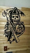 "36"" Grim Reaper Sign  Hand Made in Waco Texas ""CNC Plasma"" wall art decor"