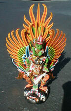 Garuda with Vishnu handmade wood carving from Bali Indonesia 18 in White Garuda