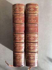 Oeuvres de Virgile 2vol Relié Complet 1/50ex sur Hollande signé 1879 Pessonneaux