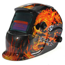 Maschera di saldatura casco di saldatura solare automatico cranio a fiamma B8X4