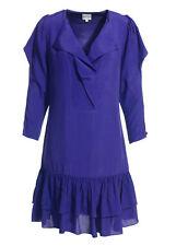 FAB Reiss Violet Purple Blue Split 3/4 Sleeve Frill Skirt Risa Dress Size 8 VGC