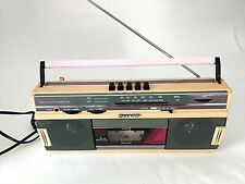 Vintage Sharp Stereo Radio Cassette Recorder QT248 Pink Peach Updated Power Cord