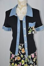 RJ & Co Womens 12 Navy Blue Summer Dress 2 Pc Set Long Summer Sunflower Expresso