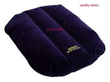 Korjo! Deluex Velour Jumbo Size Inflatable Travel Back Rest Pillow Support Navy