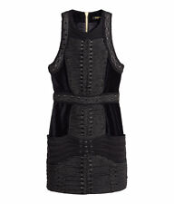 80bf018668ade Balmain X H&M Velvet braided Dress size 6 Brand new with tags
