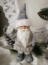 Santa Claus Decorative Figure Christmas Shabby Chic Deco 26cmx10cm