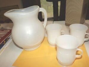 Vintage Kool-Aid pitcher & 3 cups---advertising