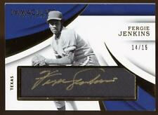 2018 Immaculate Collection Tweed Weave Fergie Jenkins Autograph AUTO 14/15 CUBS
