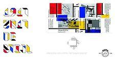 Nederland 2017  Kunst  schilderijen: DE STIJL  fdc's  748 a/b  luxe postfris/mnh