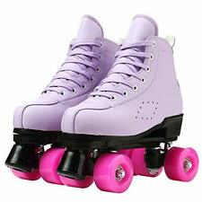 New listing Womens Roller Skates Classic High-top Double-Row Leather Adult Roller Skates ...