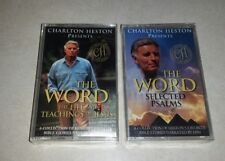 CHARLTON HESTON Presents the WORD - 2 New sealed cassette tapes Bible Audio