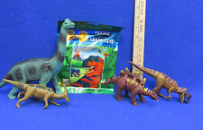 3 D Dinosaur Puzzle with Glasses & Figures Stego Allo Para Brachiosaurus 5 Lot