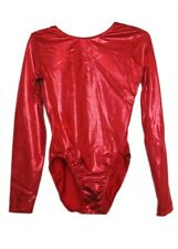 Gk Elite Red Sparkle Mystique Gymnastics Leotard - As Adult Small 4486