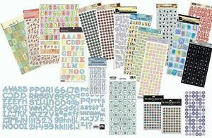 Various Alphabet Stickers & Rub-ons - Choose from Large Selection