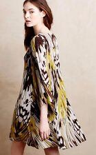 Sarita Swing Dress Size 12 Leifsdottir Silk Boho NWT Wedding Cocktail Top Rated