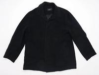 Next Mens Size L Cotton Black Coat