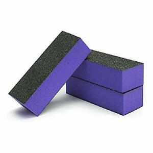 [BIG SALES] Black Grit Purple Sanding 3-Way 60/60/100 Nail Buffer Blocks -Choose
