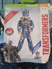 Halloween Costume Transformers Robot Optimus Prime Toddler Boy 3T-4T New