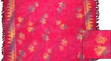 Sarong/Pareo/Wrap - Pink w/rainbow fish batik - handmade in Bali - Hary Dary