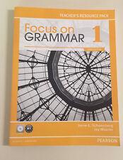 Focus on Grammar 1 * TEACHER'S RESOURCE PACK w/ CD * Irene E. Schoenberg * NEW