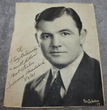 HAND SIGNED & DATED 1937 JIMMY/JAMES BRADDOCK WORLD HEAVYWEIGHT CHAMPION